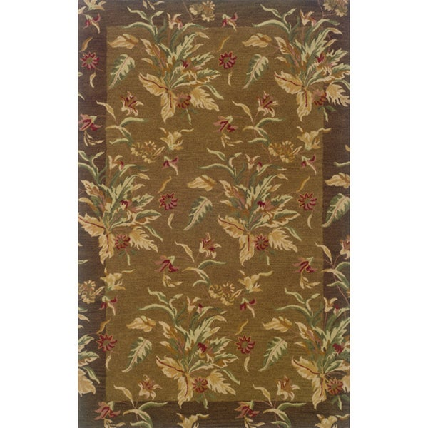 "Hand-tufted Indoor Tan/ Brown Wool Rug (9'6 x 13'6) - 9'6"" x 13'6"""