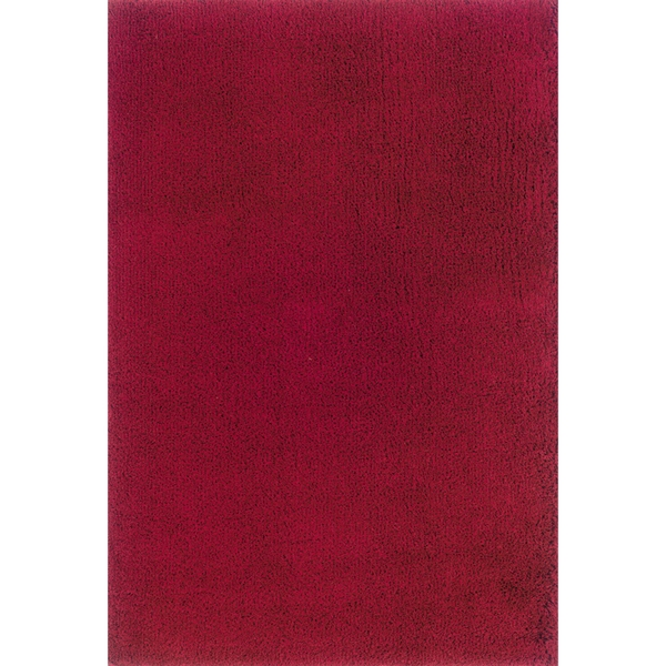 Indoor Red/Red Shag Area Rug - 9'10 x 12'7