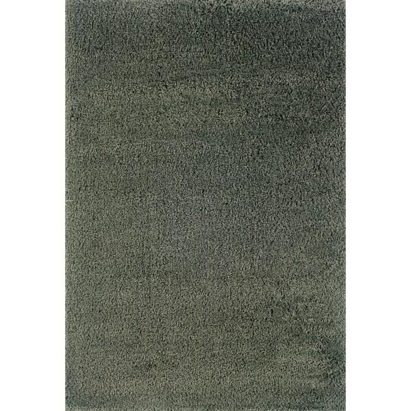 """Indoor Blue/ Blue Shag Area Rug (9'10 x 12'7) - 9'10"""" x 12'7"""""""