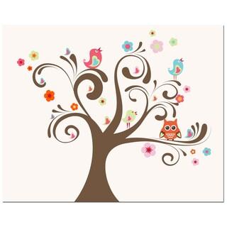 Owl & Bird Tree Art Print