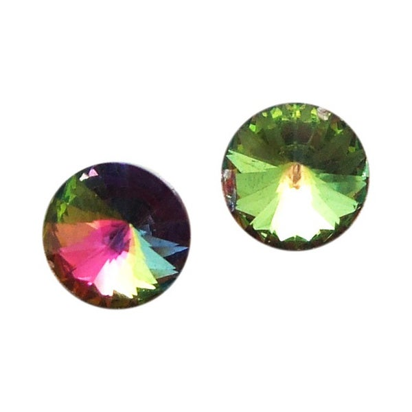 Handmade Timeless Prism Round Crystal .925 Sterling Silver Earrings (Thailand)