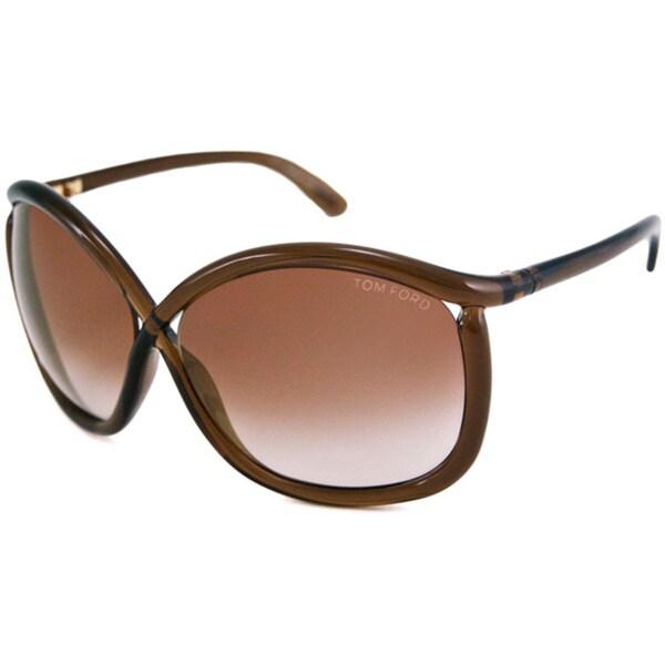 Tom Ford Women's TF0201 Charlie Rectangular Sunglasses