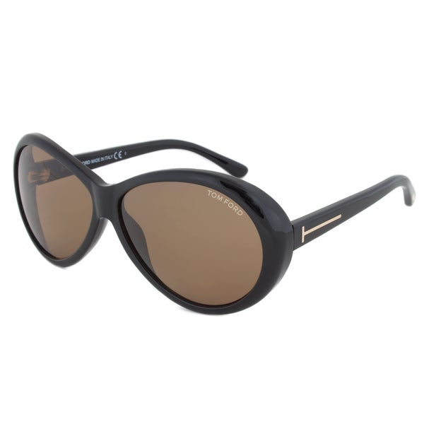 Authentic Tom Ford Women's TF0202 Geraldine Oval Sunglasses