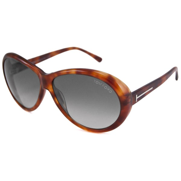 Tom Ford Women's TF0202 Geraldine Oval Sunglasses