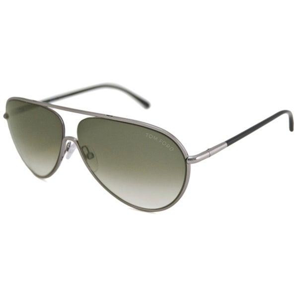 Tom Ford Men's TF0204 Cecillio Impact-Resistant Aviator Sunglasses