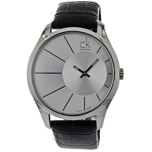 Calvin Klein Men's Deluxe Leather Watch