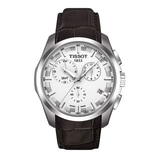 Tissot Men's 'Couturier' Silvertone/ Brown Watch