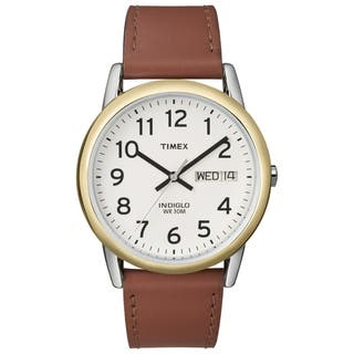 Timex T200119J Men's Easy Reader Brown Leather-Strap Quartz Watch|https://ak1.ostkcdn.com/images/products/7723644/7723644/Timex-Mens-Easy-Reader-Brown-Leather-Strap-Watch-P15126268.jpg?impolicy=medium