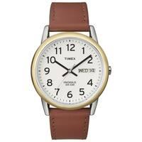 Timex T200119J Men's Easy Reader Brown Leather-Strap Quartz Watch