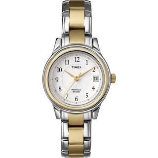 Timex T257719J Women's Elevated Classics Dress Two-tone Steel Bracelet Watch