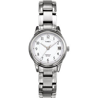 Timex T292719J Women's Elevated Classics Dress Silvertone Steel Bracelet Watch