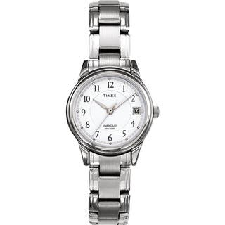 Timex T292719J Women's Elevated Classics Dress Silvertone Steel Bracelet Watch|https://ak1.ostkcdn.com/images/products/7723647/7723647/Timex-Womens-Elevated-Classics-Dress-Silvertone-Steel-Bracelet-Watch-P15126270.jpg?impolicy=medium
