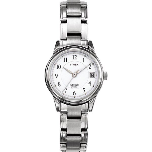 Timex T292719J Women's Elevated Classics Dress Silvertone Steel Bracelet Watch