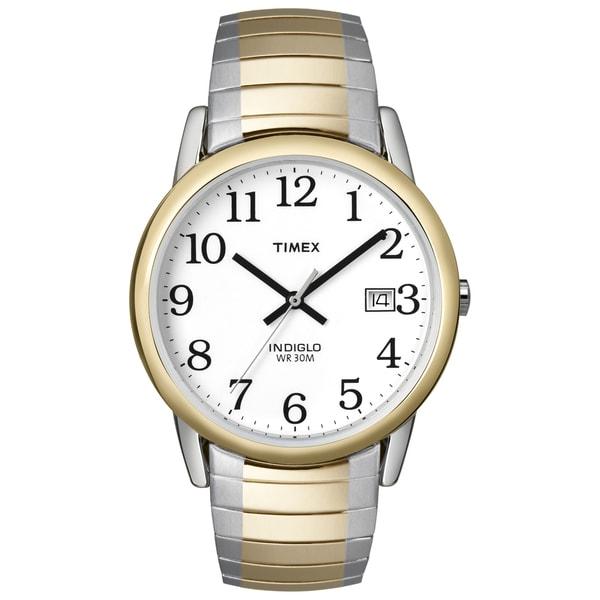 Timex T2H3119J Men's Easy Reader Two-tone Steel Watch