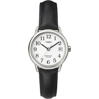 Timex T2H3319J Women's Easy Reader Black Leather Strap Watch|https://ak1.ostkcdn.com/images/products/7723651/7723651/Timex-Womens-Easy-Reader-Black-Leather-Strap-Watch-P15126274.jpg?_ostk_perf_=percv&impolicy=medium