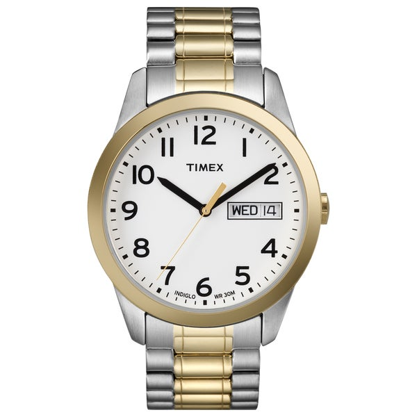 2a74ddd59 Shop Timex Men's Elevated Classics Dress Two-tone Steel Expansion Band Watch  - Free Shipping Today - Overstock - 7723654
