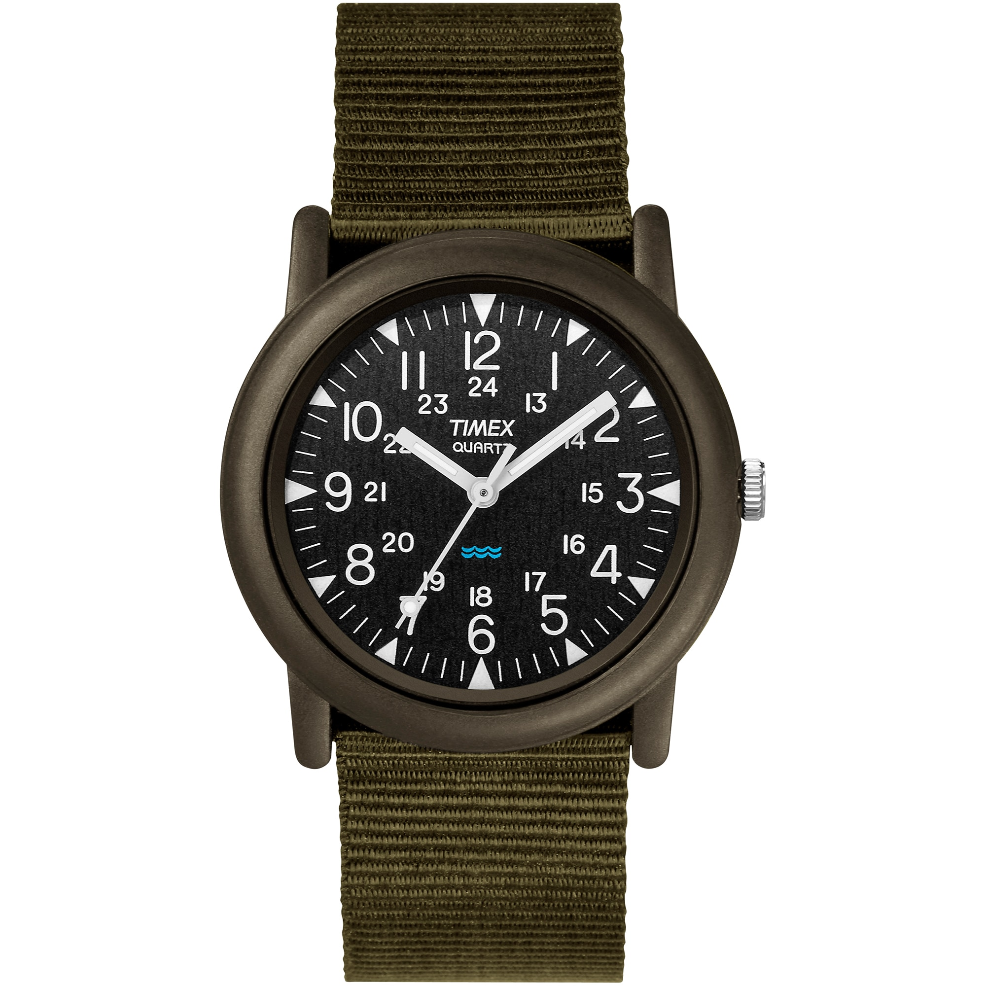 Timex Men's T41711 Expedition Camper Black/Green Fabric S...