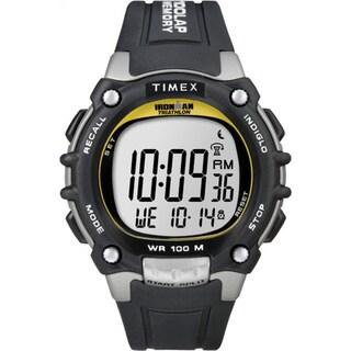 Timex T5E2319J Men's Ironman Traditional 100-lap Black/ Yellow Watch
