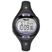 Timex Women's T5K187 Ironman Essential Pulse Black/Purple Resin Strap Watch - Purple/black