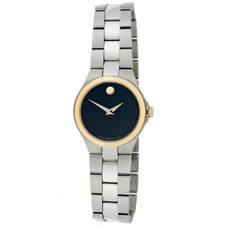 Movado Women's Stainless Steel Goldtone Bezel Watch