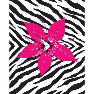 Flower with Zebra Print Art Print