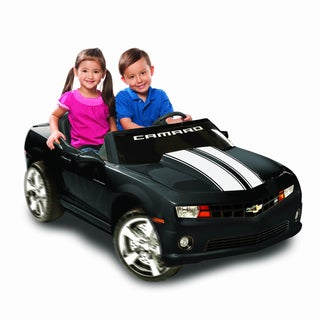 Kid Motorz Black 2-seater Chevrolet Racing Camaro