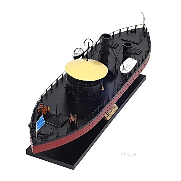 Old Modern Handicrafts U.S.S. Monitor Ironclad Warship Model. Opens flyout.