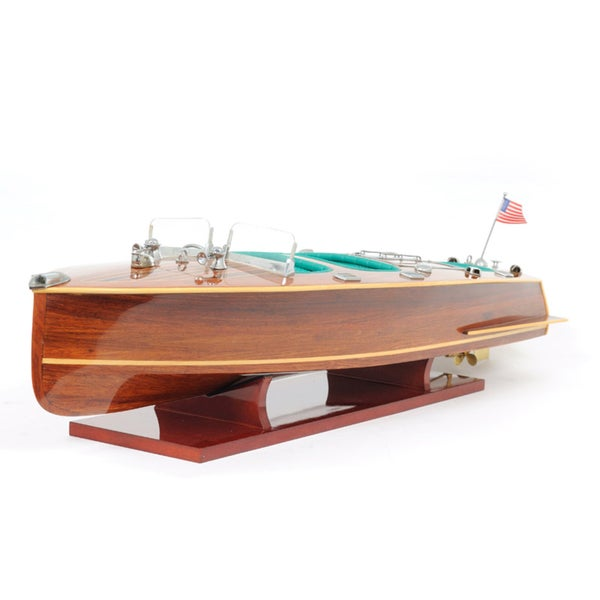 Old Modern Handicrafts Chris Craft Triple Cockpit Model Boat