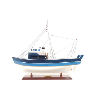 Old Modern Handicrafts La Confiance Painted Model Boat