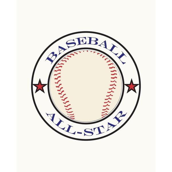 All Star Baseball Art Print