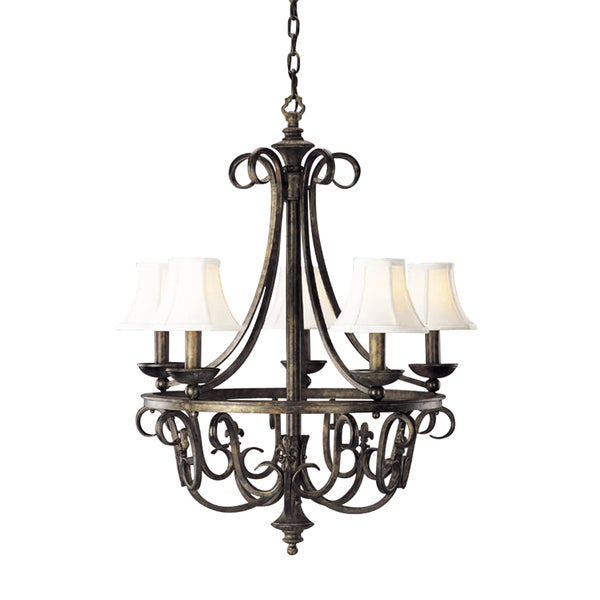 Aztec Lighting Wrought Iron 5-light Chandelier