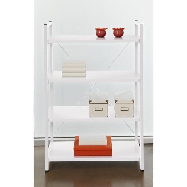 Tribeca White 4-shelf Bookcase