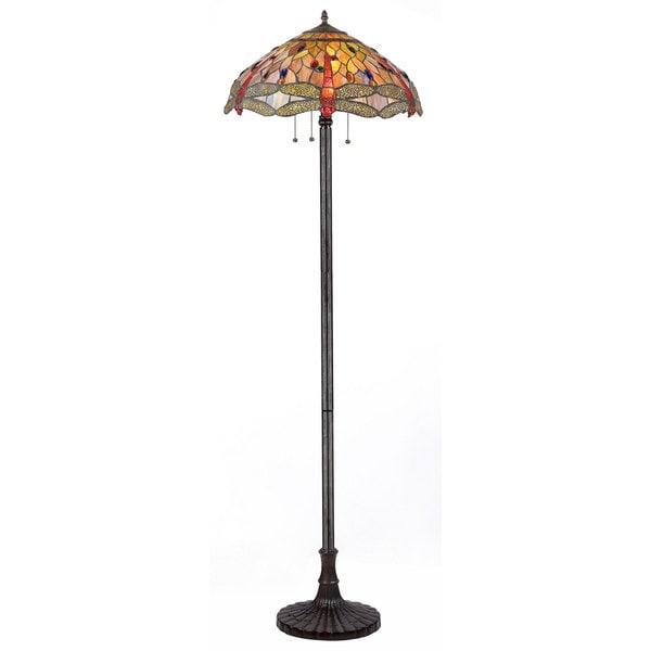 Chloe Dragonfly Design 3-light Floor Lamp