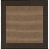 Pergola Quad Cocoa/Black Square Outdoor Area Rug - 7'6 x 7'6