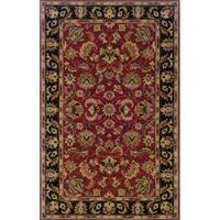 Indoor Red/ Black Wool Area Rug - 9'6 x 13'6