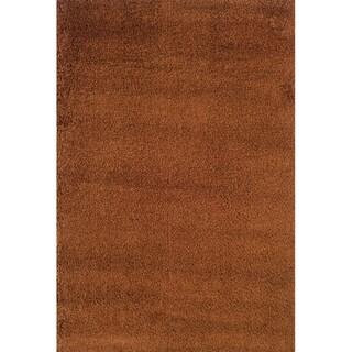 Indoor Rust/ Brown Shag Area Rug (9'10 x 12'7)