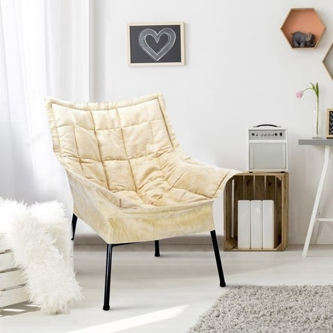 Milano Microsuede Upholstered Lounger Chair