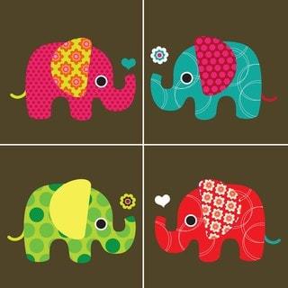 Elephant Mania Art Print