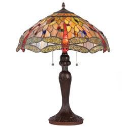 Chloe Dragonfly Design 3-light Table Lamp