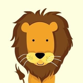 Single Lion Art Print