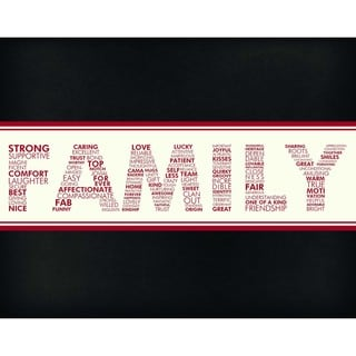 Words of Family Art Print