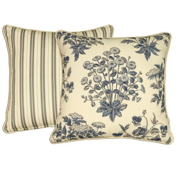 Rose Tree Newport 18-inch Reversible Throw Pillow