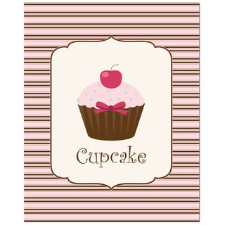 Sweet! Cupcake! Light Pink/ Chocolate Art Print