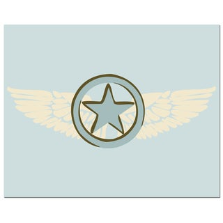 Pilot Wings with Blue Star Art Print