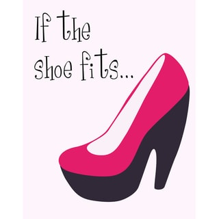 Secretly Designed 'If the Shoe Fits...' Art Print