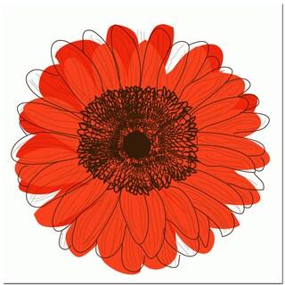 Single Flower- Orange Art Print