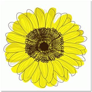 Single Flower- Yellow Art Print