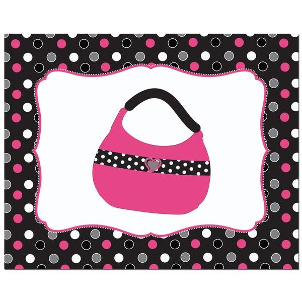 Solid Color Fashion Handbag Art Print