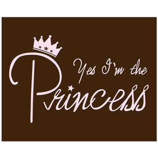 Secretly Designed 'Yes, I'm the Princess' Unframed Brown Art Print