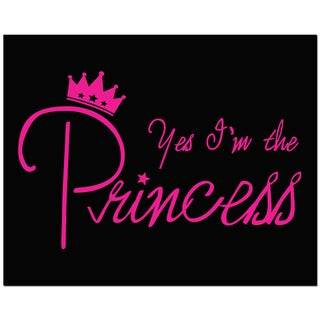 Secretly Designed 'Yes, I'm the Princess' Unframed Black Art Print